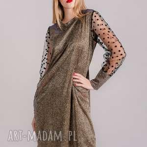 sukienka brokatowa sparkling gold, sukienka, bluzka, spodnie, spódnica, bluza