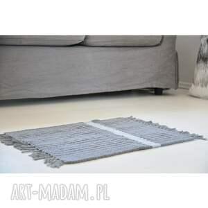 unikalny, dywanik łazienkowy, chodnik bawełniany, ze sznurka bawełnianego
