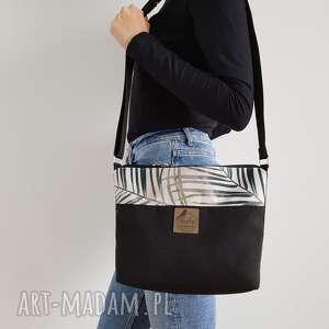Torebka mini - czarnobeżowa w palmy torebki tasha handmade
