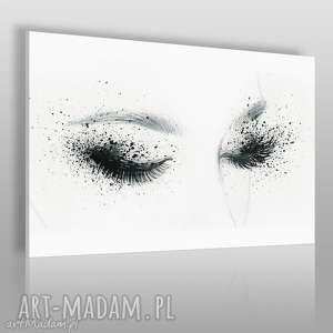 obraz na płótnie - kobieta oczy - 120x80 cm 55801 - kobieta, oczy, makijaż
