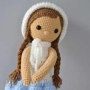 lala melisa - biało- błękitna, lala, maskotka, zabawki, prezent, chrzest, roczek