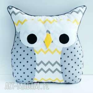 poduszka przytulanka sowa, poduszka, przytulanka, łóżeczko, pościel, dekoracja