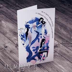 ręcznie zrobione kartki aniołowie do szczęścia przygrywają
