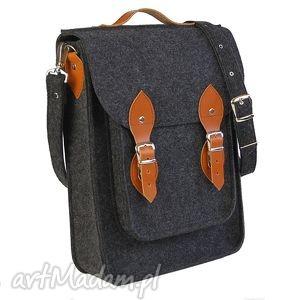 Filcowa torba na ramię, torba, torebka, plecak, skóra, filc
