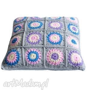 poduszka dekoracyjna, poduszka, szydełko