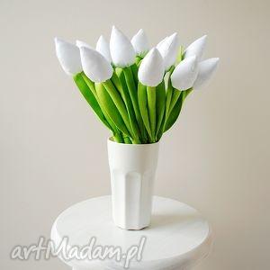 bukiet bawełnianych tulipanów - tulipany, bawełniane, kwiaty, szyte
