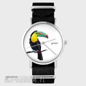 Zegarek, bransoletka - tukan czarny, nato zegarki yenoo