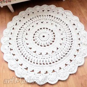 dywany wykonane ręcznie na szydełku 120 cm 2 sztuki