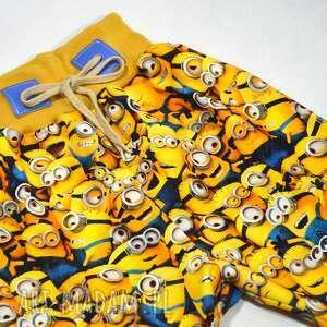 minionki żółte spodnie bawełniane dla dziewczynki, chłopca, rozm 56-116
