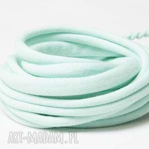 handmade turkusowa bransoletka damska, bawełniana bransoleta