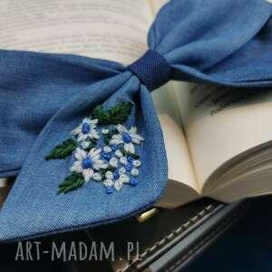 sasanka, kokarda, spinka, spinka do włosów, dziewczynka, haftowane kwiaty