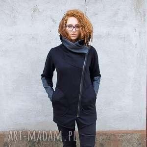 Bluza Ragini ze stójką asymetryczna, bluza-na-suwak, ze-stójką, bluza-dresowa