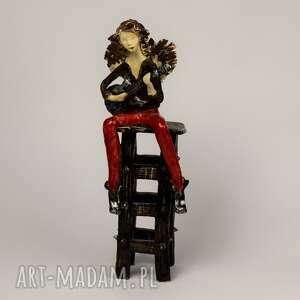 ceramika anioł z gitarą, śpiewający, gitarą, ceramiczny