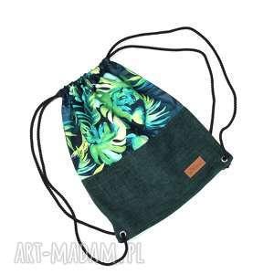 Prezent Worek palmy kolorowy plecak prezent, worek, liście, palma,