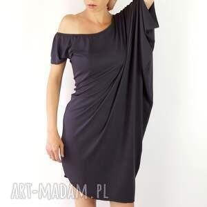 tuniki szara tunika, kobieca, luźna, modna, szara, sukienka