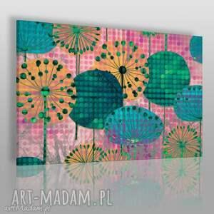 obrazy obraz na płótnie - kwiaty dmuchawce 120x80 cm 23703, dmuchawce