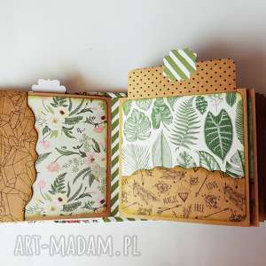 album hidden hinge scrapbooking - motyw roślinny, scrapbooking, hiddendinge, craft