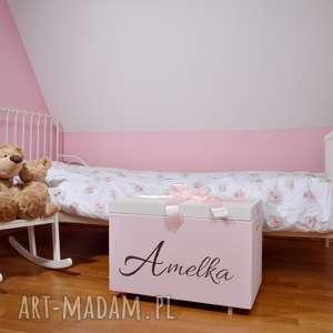 skrzynia na zabawki personalizowana, pudełko imienne, zabawki, meble