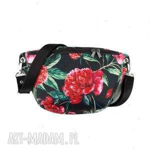 nerka mini piwonie - ,nerka-mini,mała-torebka,saszetka,kwiaty,romantyczna,kwiatowa,