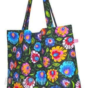 torba bawełniana folk, torba, zakupy, bawełna, łowicz, prezent