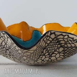 artystyczna energetyczna misa, miska, ceramiczna, dekoracyjna, kolorowa