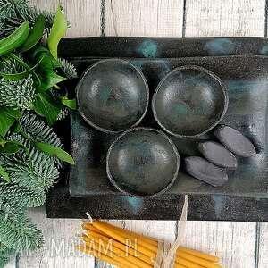 polepione zestaw talerzy ceramicznych do sushi, talerz, miska, patera, zestaw