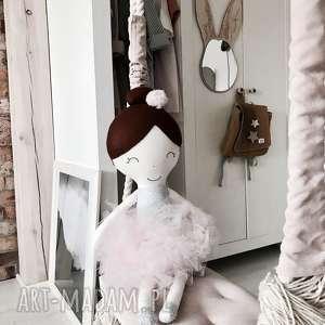 Lalka ręcznie robiona Melania XL (Różowe dodatki), bawełna, lalki, lalka, baletnica