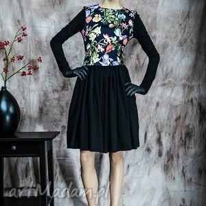 sukienki rozkloszowana sukienka w kwiaty, sukienka, rustic, rozkloszowana