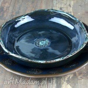 hand-made ceramika rosette zestaw naczyń