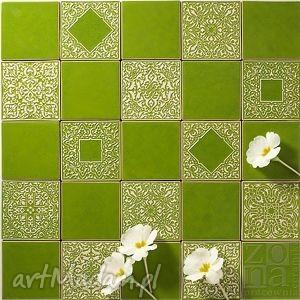 kafle mix jasnozielony, kafle, dekory, płytki, marokańskie, orientalne, designerskie