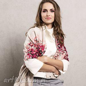swetry szal etola otulacz pareo kamizelka pink triangle, etola, dzianinowy, prezent