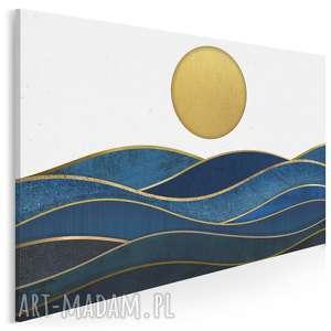 obraz na płótnie - morze słońce 120x80 cm 42501, słońce, fale, morze, abstrakcja