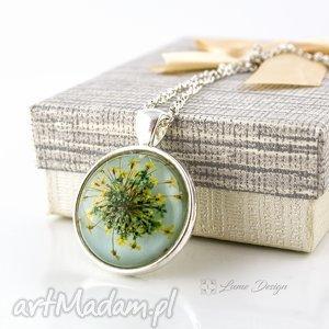handmade naszyjniki medalion z prawdziwym kwiatem