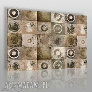 obraz na płótnie - abstrakcja kwadraty koła 120x80 cm 18002 , koła