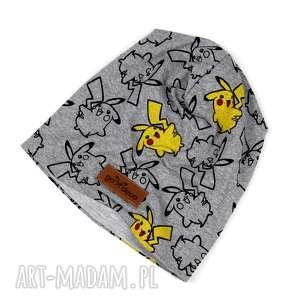 czapki czapka beanie unisex ciepła pokemon, czapka, beanie, ciepła, szara, pokemon