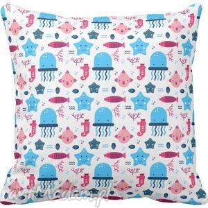 hand-made pokoik dziecka poszewka na poduszkę dziecięca morska meduzy:) 3032