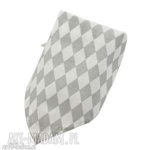 Chustka bawełniana, wzór diamenty, bandana dla dziecka little