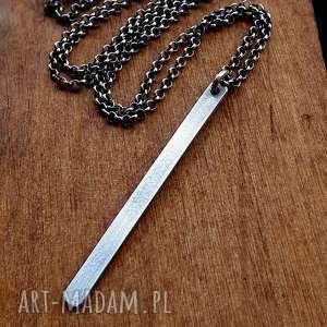 naszyjniki srebrny naszyjnik z soplekiem- srebro pr 925, delikatny, geometryczny