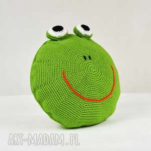 unikalny prezent, poduszka - żabka, poduszka, przytulanka, dziecko, zabawa, podróż