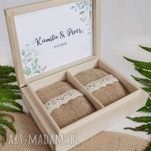 ślub naturalne pudełko na obrączki