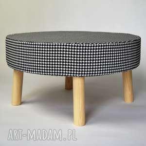 fjerne xl - pepitka puf, stolik,stołek, stolik, siedzisko, stołek, meble, pokój