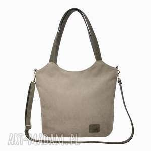 lekka i poręczna jasnoszarobeżowa torba 2708, torba, torebka, na ramię, duża