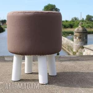czarna owca store pufa mleczna czekolada - białe nogi 36 cm, puf, taboret