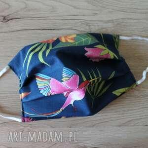 maseczki maseczka bawełniana - kolorowe kolibry