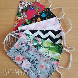 maseczki maseczki, maski ochronne do wielokrotnego użytku z bawełny - komplet 7