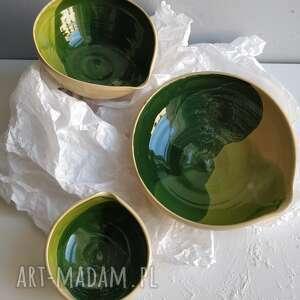 Zestaw trzech miseczek ceramicznych ceramika kate maciukajc