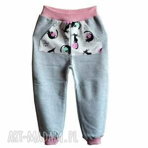 Spodnie BAWEŁNA z kieszeniami 62-116 KOTY, spodnie, bawełniane, koty, dresowe-spodnie