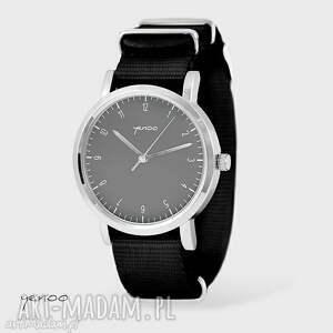 zegarek, bransoletka - simple elegance, szary czarny, nato