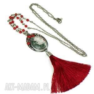 Grey in red naszyjnik srebrny z chwostem a666, naszyjnik-z-chwostem