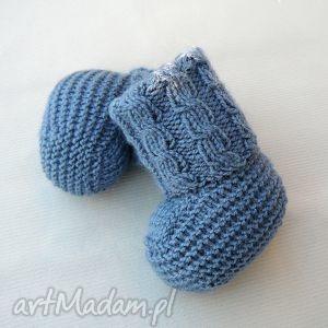 skarpetki newborn z warkoczem, skarpetki, buciki, wełniane, ciepłe, niemowlę